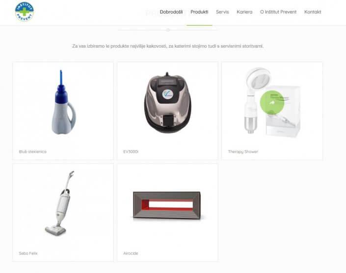 Prikaz produktov